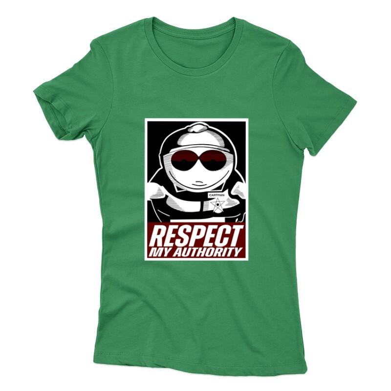 Respect my authority Női póló