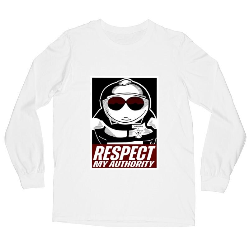 Respect my authority Hosszú ujjú póló